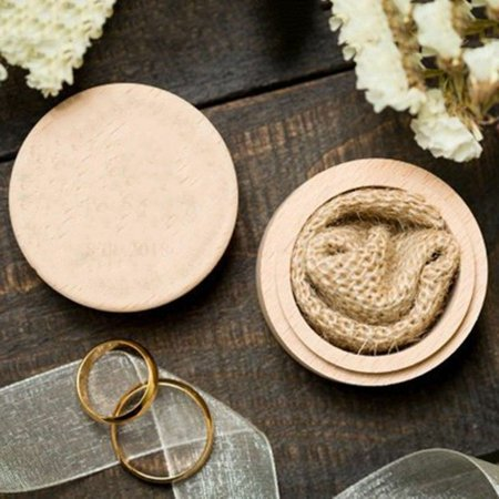 KABOER Chic Wooden Wedding Ring Jewelry Bearer Box Case Ornament Women Party Supply New](Ring Bearer Gifts For Kids)