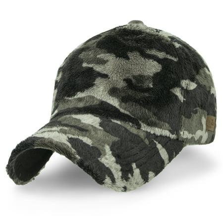 ililiy - ililily Howels Camouflage Solid Velboa Baseball Cap Velcro Military  Trucker Hat  7a5088197a6