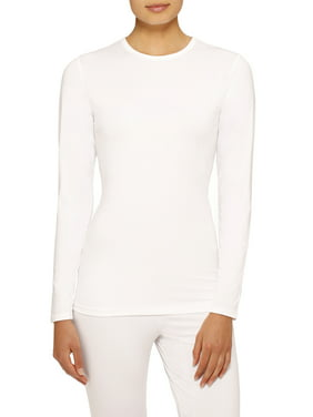 ClimateRight by Cuddl Duds Women's and Women's Plus Stretch Microfiber Warm Long Underwear Top