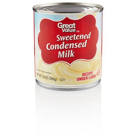 (Great Value Sweetened Condensed Milk, 14 oz)