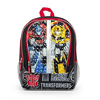 Bumblebee Bat For Sale (Backpack - - Optimus Prime/BumbleBee Faces 16 School Bag)