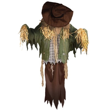 Thrashing Head Hanging Scarecrow Halloween Decoration Animated Prop, 60