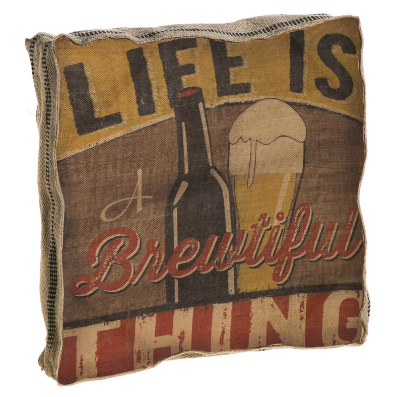 Evergreen Enterprises, Inc This is How We Roll Life is Brewtiful Burlap Throw Pillow