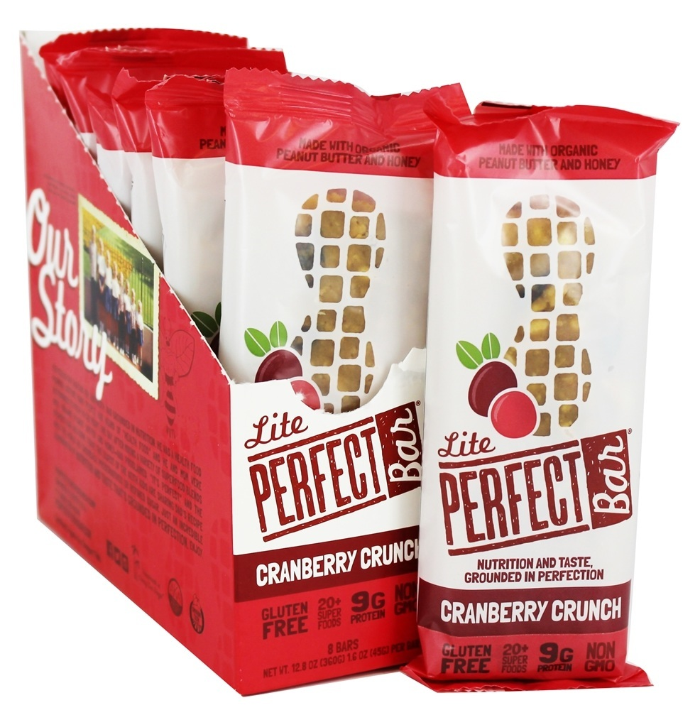 The Perfect Bar & Company - Perfect Foods Bars Box Cranberry Crunch - 8 Bars