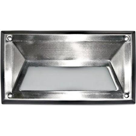 Dabmar Lighting DSL1002-SS304 120 V Incandenscent Hooded Stainless Steel 304 Step Light - image 1 of 1