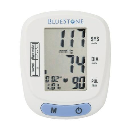 Bluestone Automatic Digital LCD Wrist Blood Pressure Monitor, Adjustable Cuff & Storage (Best Blood Pressure Monitor 2019)