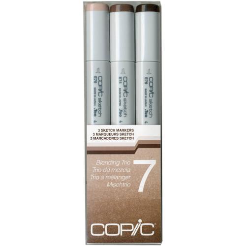 Copic Sketch Blending Trio Markers 3/Pkg-7