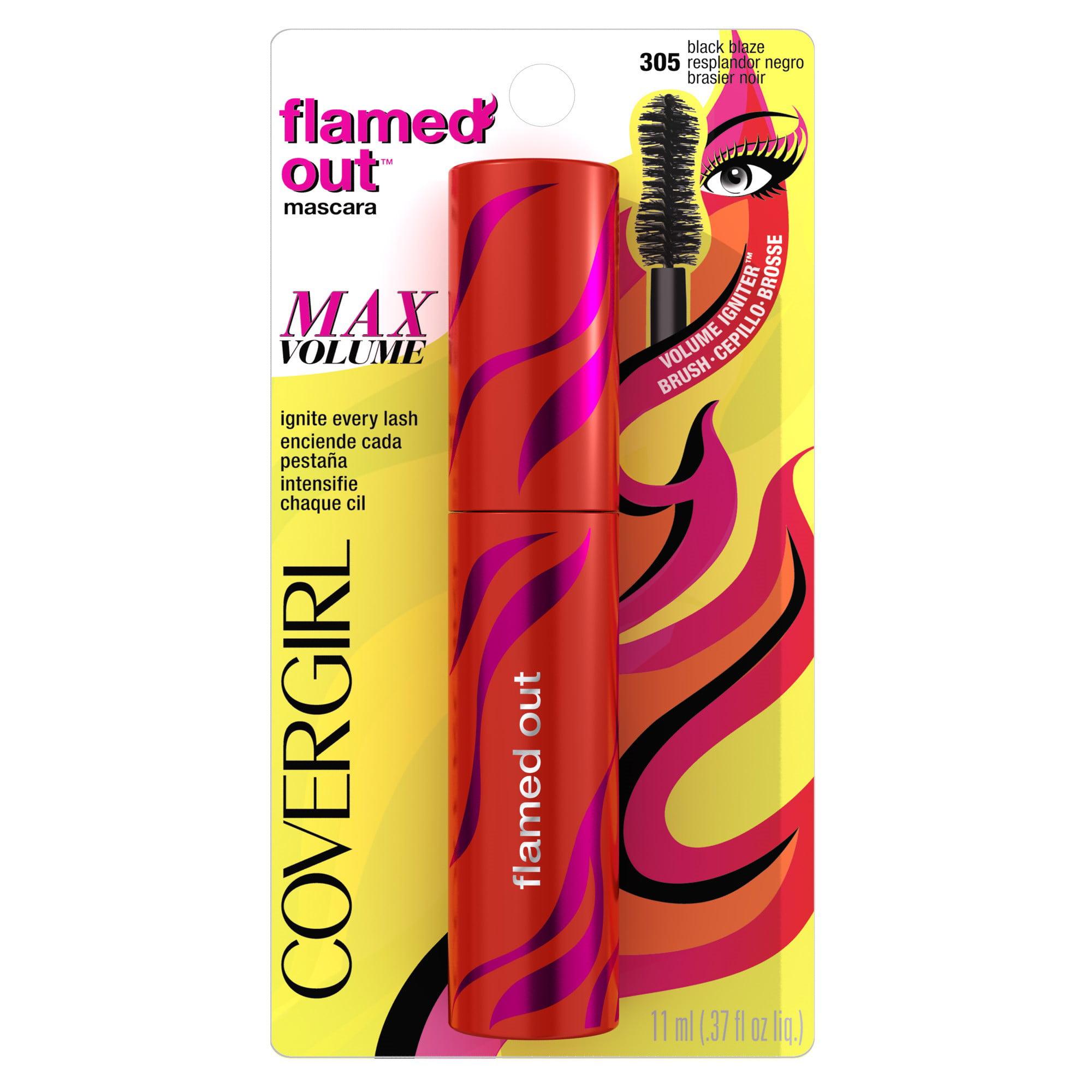 COVERGIRL Flamed Out Waterproof Mascara, Black Blaze, 0.37 Oz