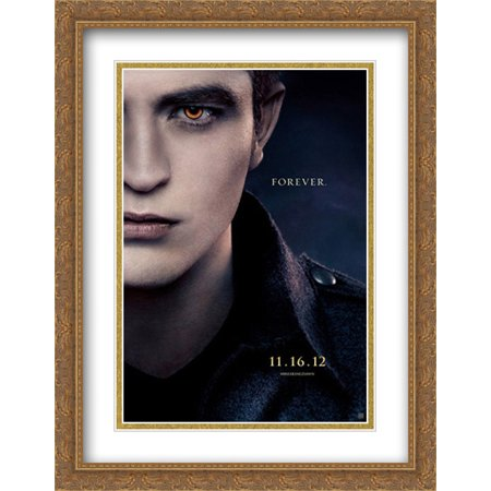 FrameToWall - The Twilight Saga: Breaking Dawn Part 2 28x36 Double Matted Large Large Gold Ornate Framed Movie Poster Art Print 2 Large Framed Print