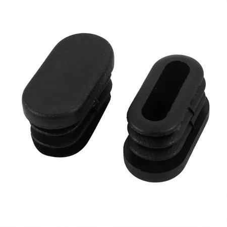 Oval Dual Slip (30mmx15mm Plastic Non Slip Oval Chair Table Leg Protectors Cap Tube Insert)