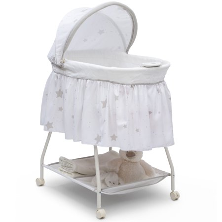 Delta Children Deluxe Sweet Beginnings Bassinet, Stardust (Simmons Kid Bassinet)
