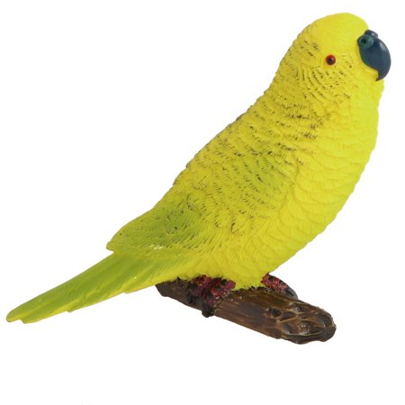 Household Kitchen Fridge Resin Parrot Shaped Decorative Magnet Sticker Yellow