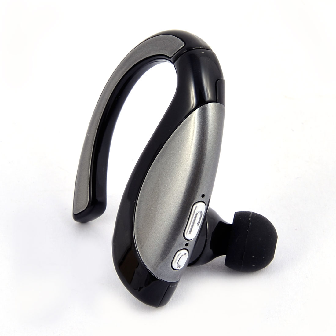 Car Noise Cancelling Earhook  Stereo  Headphone Silver Gray