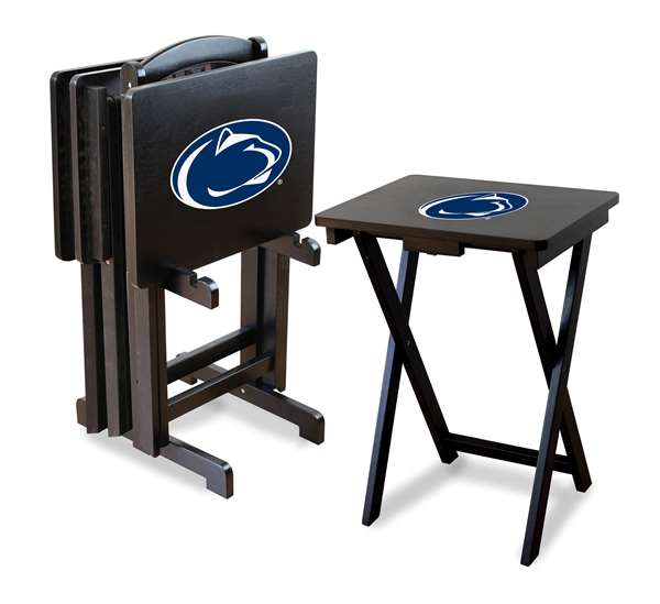 Imperial NCAA TV Trays with Stand - Set of 4