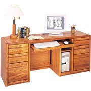 Martin Home Furnishings Contemporary Credenza Computer Desk