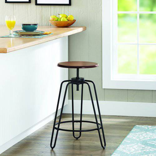 Better Homes and Gardens Adjustable-Height Spin Stool, Set of 2