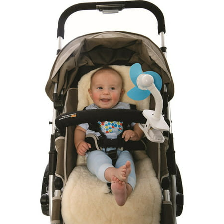 DREAMBABY SOFT FOAM BLADES BLUE/WHITE STROLLER FAN