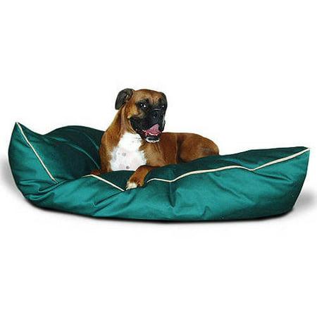 "Majestic Pet Solid Color Super Value Dog Bed Machine Washable Green Medium 28"" x 35"" x 7"""
