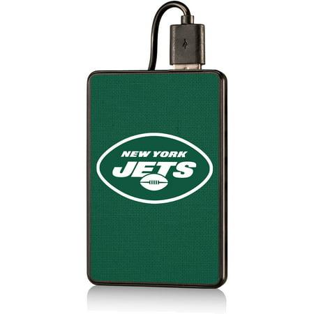 New York Jets Solid 2000 mAh Credit Card Powerbank - No Size