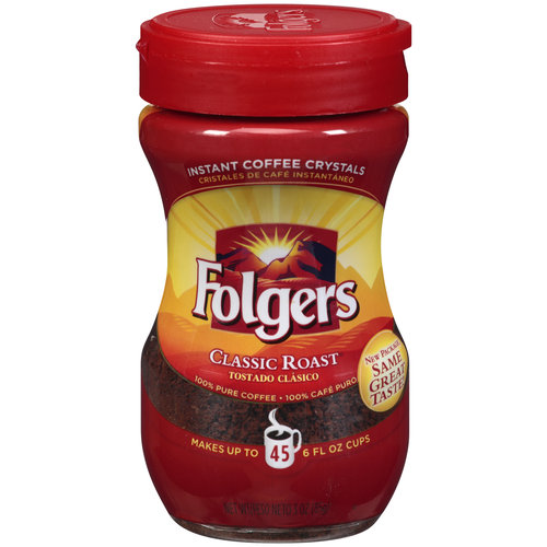 Folgers Classic Roast Instant Coffee, 3 oz