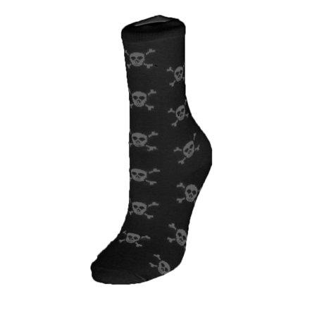Skull & Crossbones Child Crew Cut Socks, Black White, One Size 6-8 Skull And Crossbones Tights