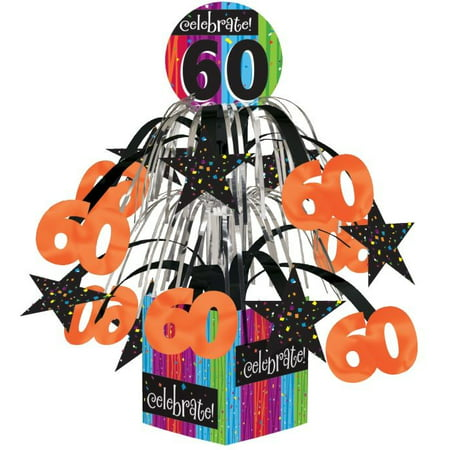 Access Milestone Celebrations 60th Birthday Mini Cascade Centerpiece, 1 Ct](Supplies For Centerpieces)