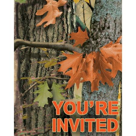 Hunting Camo Foldover Invitation/Case of - Camo Invitations