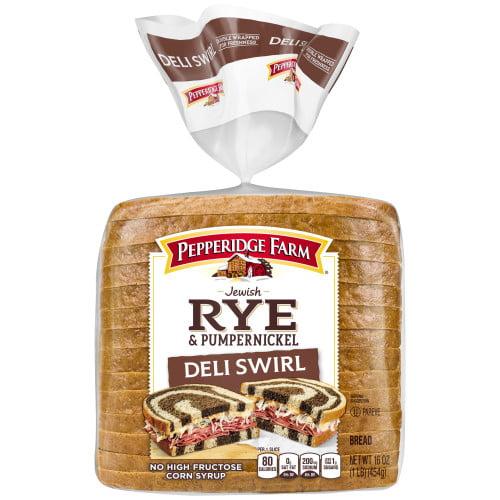Pepperidge Farm Jewish Rye & Pumpernickel Deli Swirl Bread, 16 oz. Bag