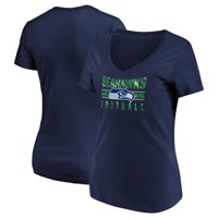 Women's Majestic College Navy Seattle Seahawks Game Day Style V-Neck T-Shirt