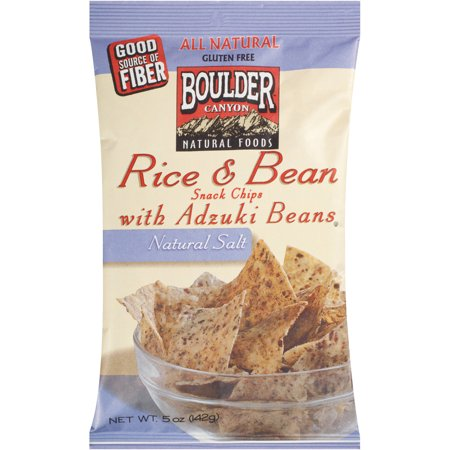 Boulder Canyon Natural Foods Rice & Bean Natural Salt Snack Chips with Adzuki Beans, 5 oz