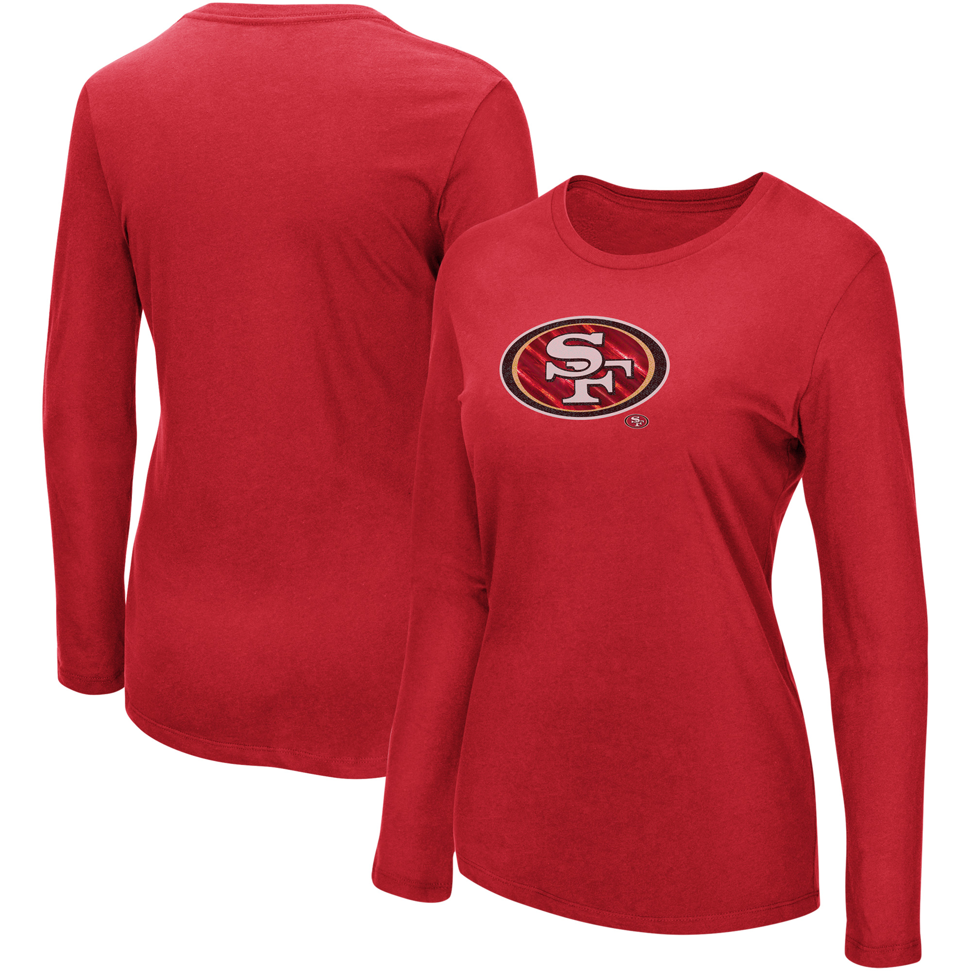 San Francisco 49ers Majestic Women's My Team Long Sleeve T-Shirt - Scarlet