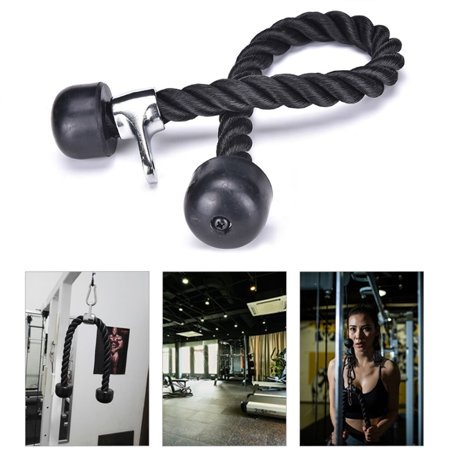 Gym Home training Lat Bicep Tricep Ropes Pull Down Rope Cable Attachment Handle