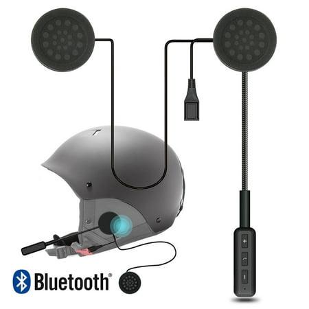 Motorcycle Helmet Headphone, Digital Wireless High Definition Helmet Speakers Bluetooth Helmet Headset, Supports Hands-Free Call - Black ()