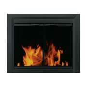 "Pleasant Hearth CL-3001 Carlisle 31"" H x 37.5"" L Medium Cabinet Style Fireplace Screen with Smoked Glass Doors"