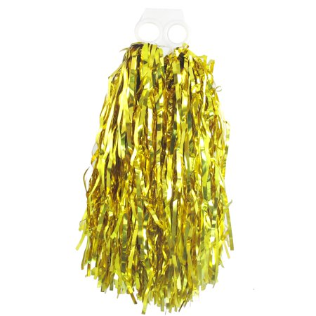 Pom Poms Cheerleading (Unique Bargains Gold Tone Plastic Cheer Dance Spirit Cheerleading Pom Poms Cheer)