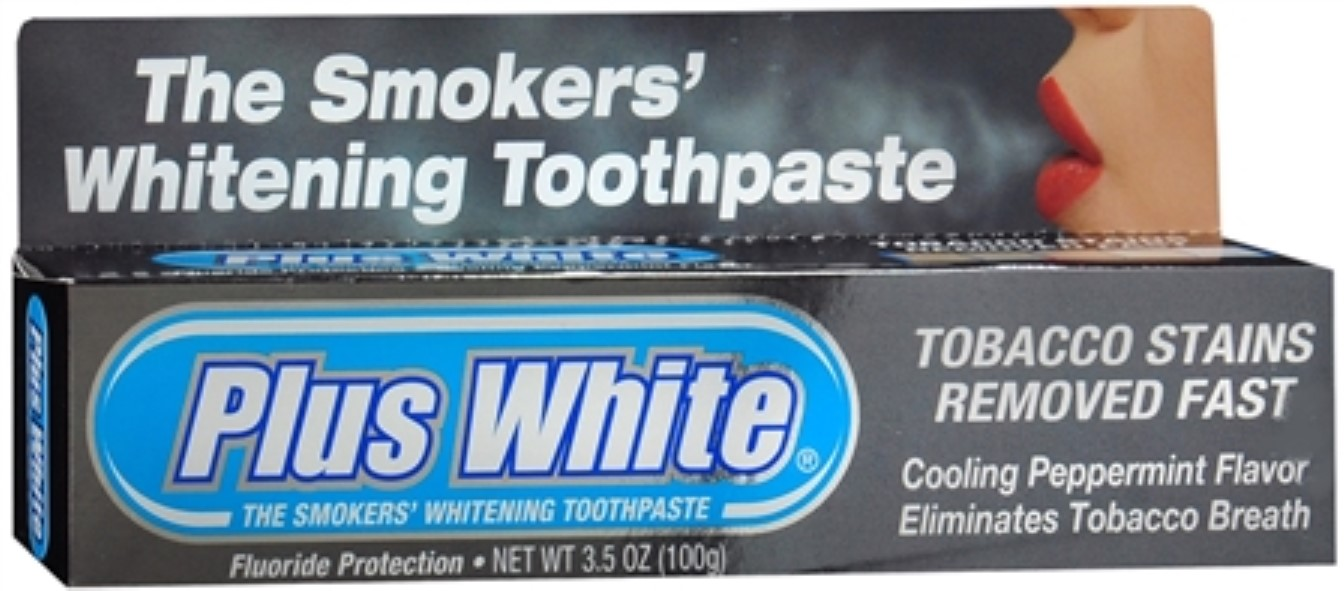Plus White Smokers' Whitening Toothpaste 3 50 oz (Pack of 3)