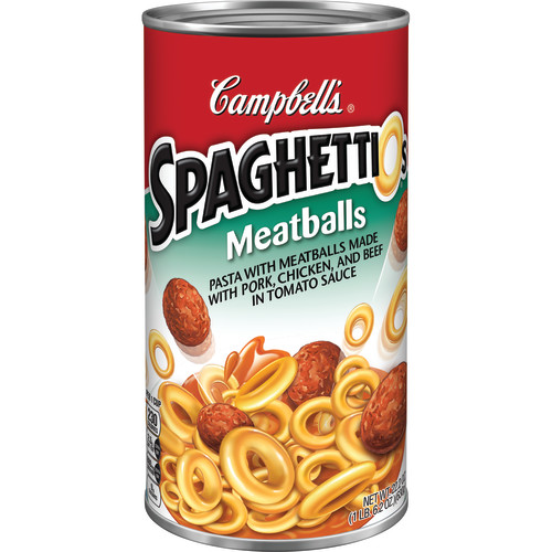 Campbell's SpaghettiOs Canned Pasta, Meatballs, 22.2 oz Can
