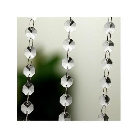 Wedding DIY Decor Diamond Acrylic Crystal Beads Curtain Strand Garland Window Scarfs Curtains For Living Room 10