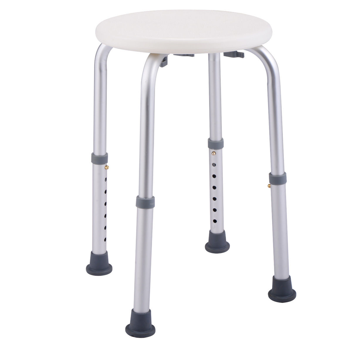 shower chairs costway 7 height adjustable bath shower chair medical seat stool bath tub white