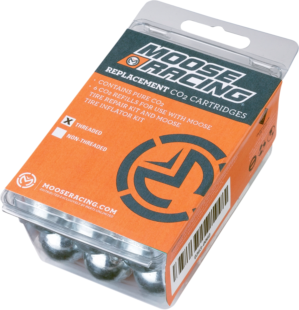 Moose Racing Replacement CO2 Non-Threaded Cartridges    0363-0061