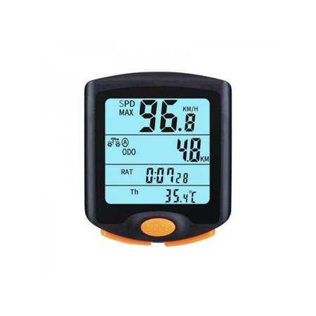 ESOLOM Mountain Bike Riding Code Table Four-screen Display With Luminous Bicycle Speedometer Bicycle Odometer Speed Alarm Stopwatch Multi-Function