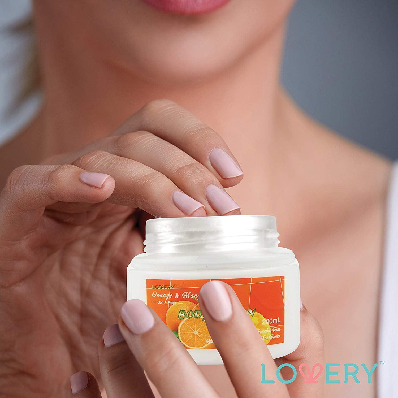 Lovery home spa gift basket orange & mango fragrance luxurious 7