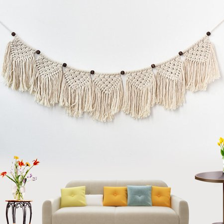 Bohemian Macrame Woven Tapestry Wall Hanging Handmade Cotton Rope Home Decor Craft Christmas Birthday Gifts