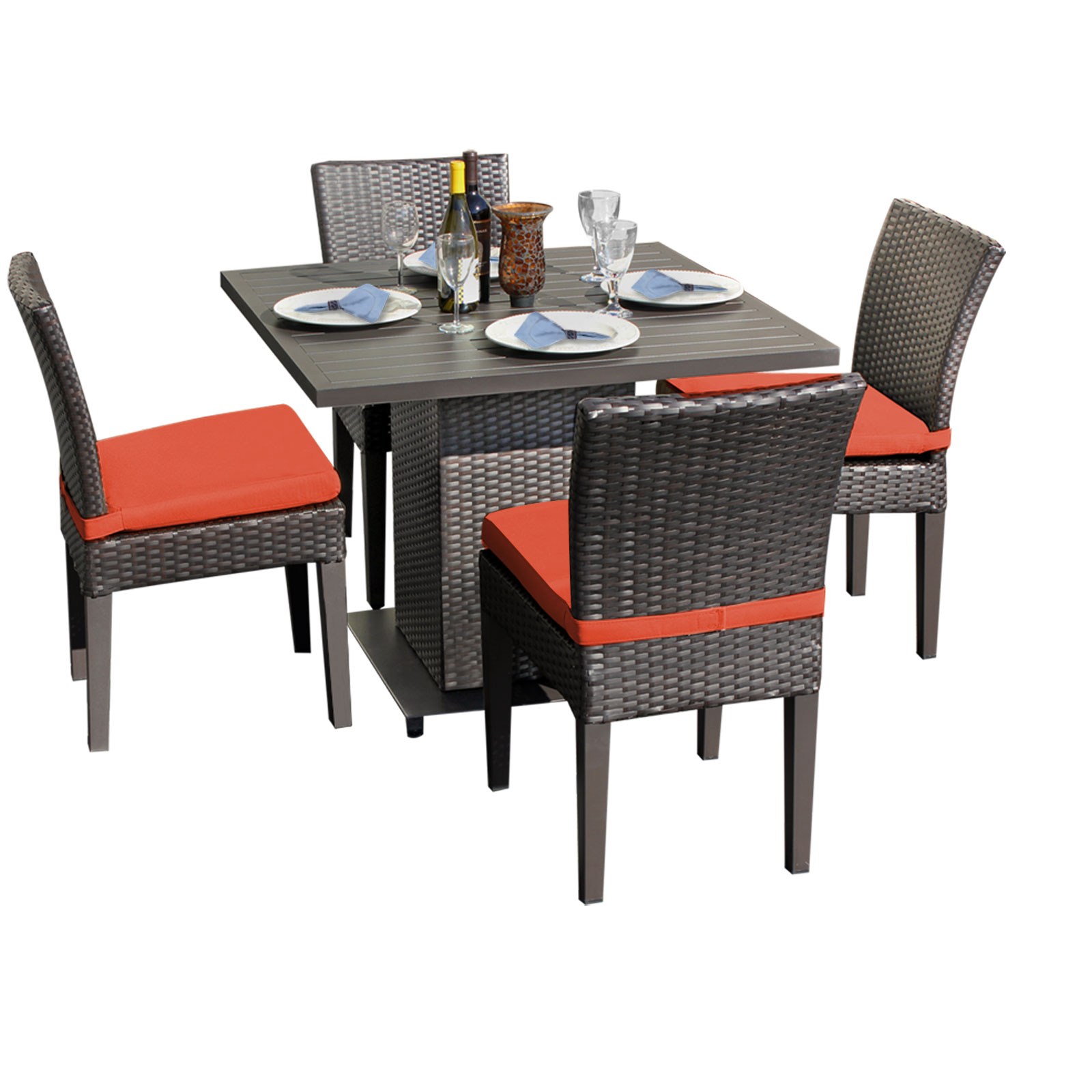 Venus Square Dining Table with 4 Chairs