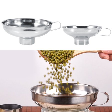 - High Quality Stainless Steel Household Wide Mouth Canning Jars Funnel With Handle Kitchen Tools, Funnels, Stainless Steel Funnel