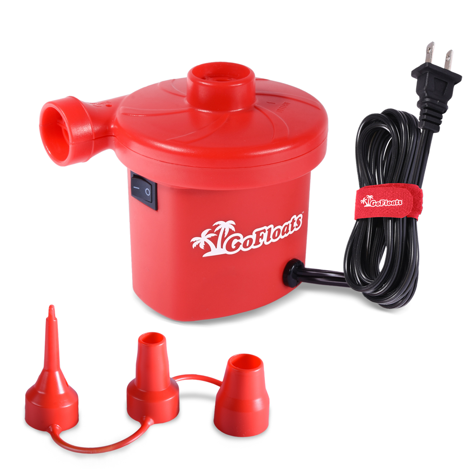 GoFloats Rapid Inflation Electric Air Pump (AC 110/120V) with Tote Bag and Raft Repair Kit