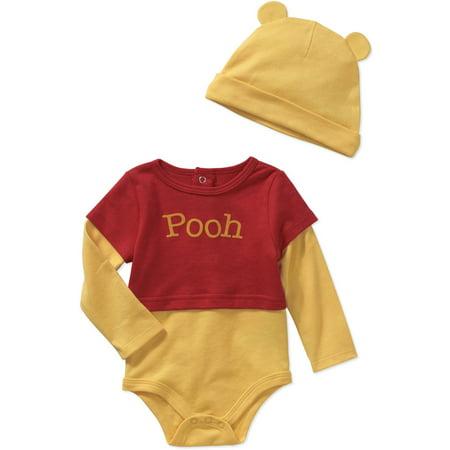 Disney Newborn Baby Boy Bodysuit and Hat 2-Piece Outfit Set - Walmart.com 30e7493c822