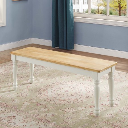 Better Homes & Gardens Autumn Lane Farmhouse Solid Wood Dining Bench, Multiple Finishes