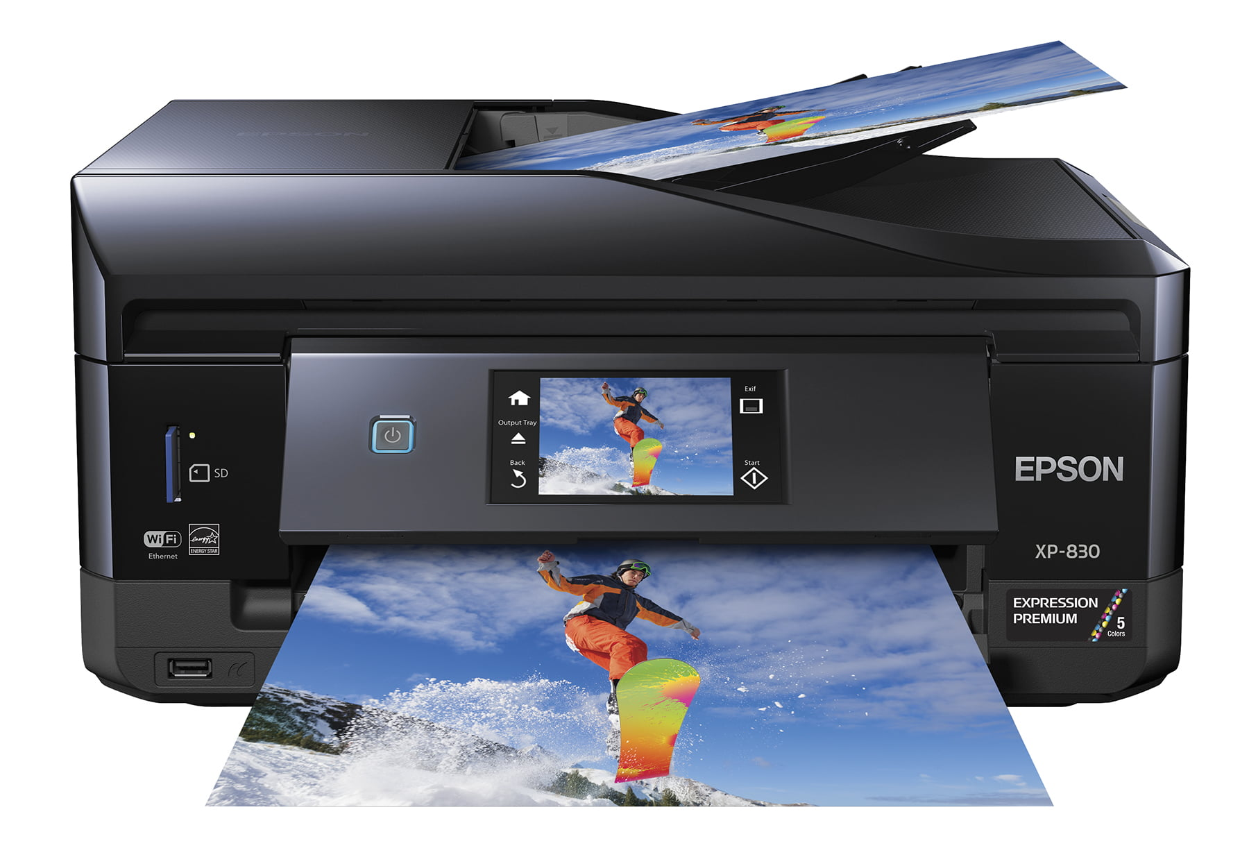 Epson Expression Premium XP-830 All-In-One Wireless Color Photo Printer with Scanner, Copier and Fax by Epson