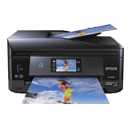 Epson Expression Premium XP-830 All-In-One Wireless Color Photo Printer with Scanner, Copier and